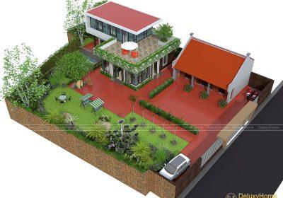Thiết kế kiến trúc cảnh quan sân vườn biệt thự Anh Tùng Bắc Giang