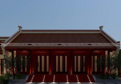 Mẫu thiết kế kiến trúc nhà thờ họ anh Sang