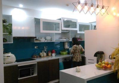 Hoàn thiện lắp đặt thi công nội thất chung cư nhà chị Hường